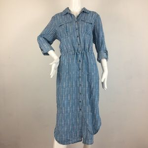 Anthropology Blue/white T-shirt dress - size 12